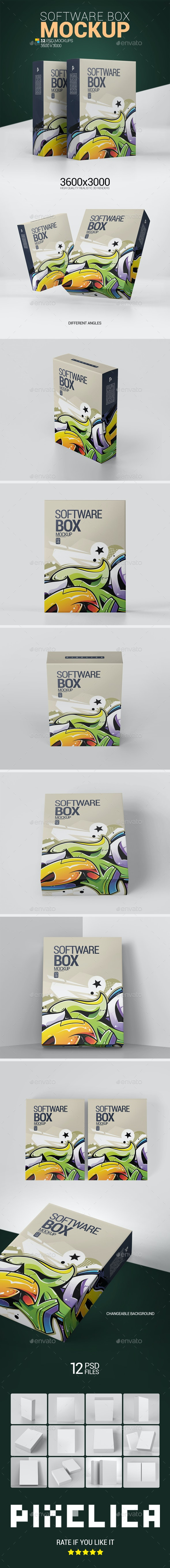 Software Box Mockup - Product Mock-Ups Graphics