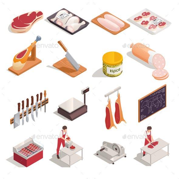Butcher Isometric Set