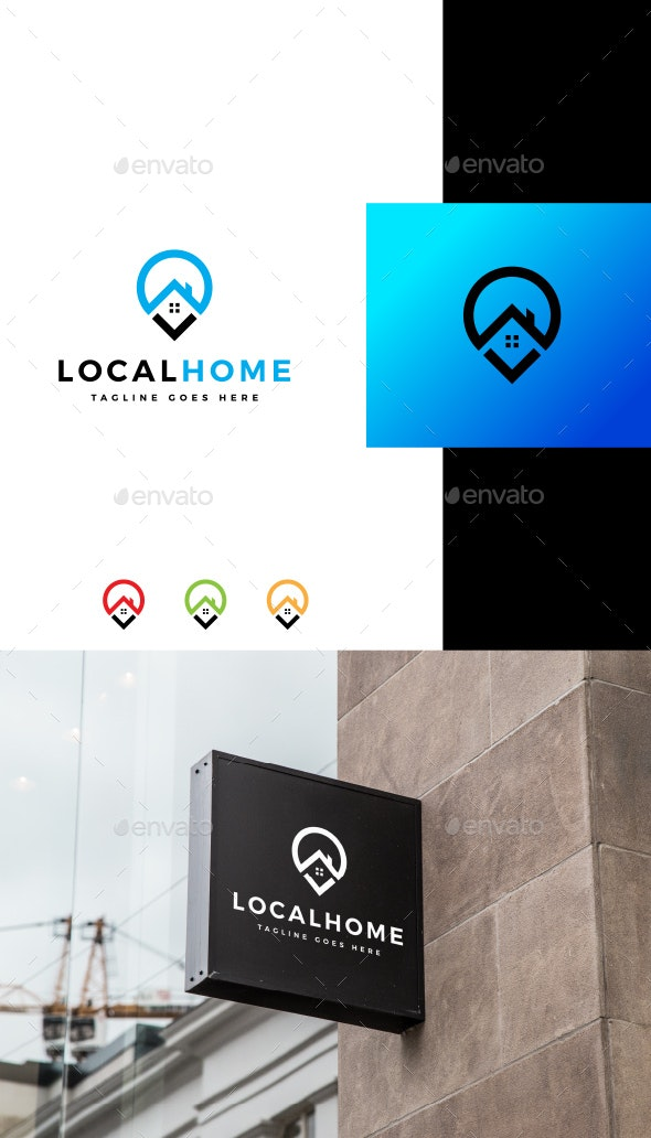 Local Home/ Find Home Logo - Buildings Logo Templates