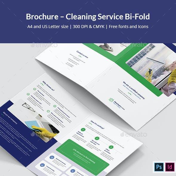 Brochure – Cleaning Service Bi-Fold
