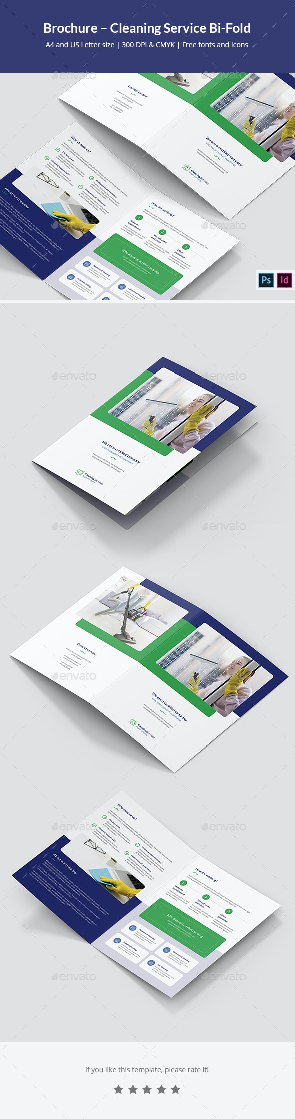 Brochure – Cleaning Service Bi-Fold - Informational Brochures