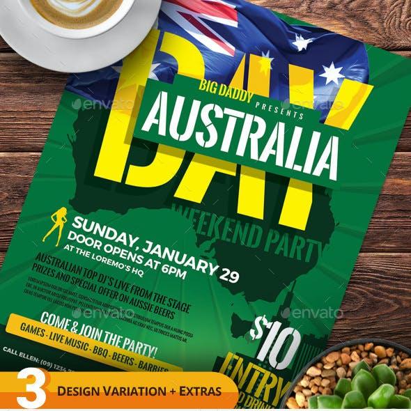 Australia Day Flyer Templates