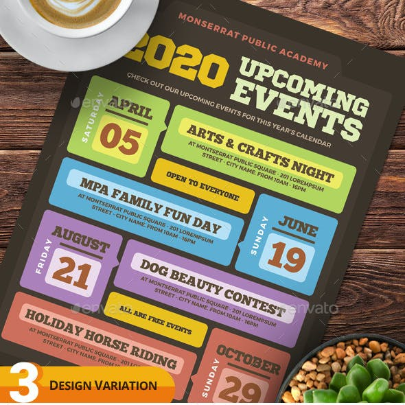 Upcoming Events Flyer Templates vol.02
