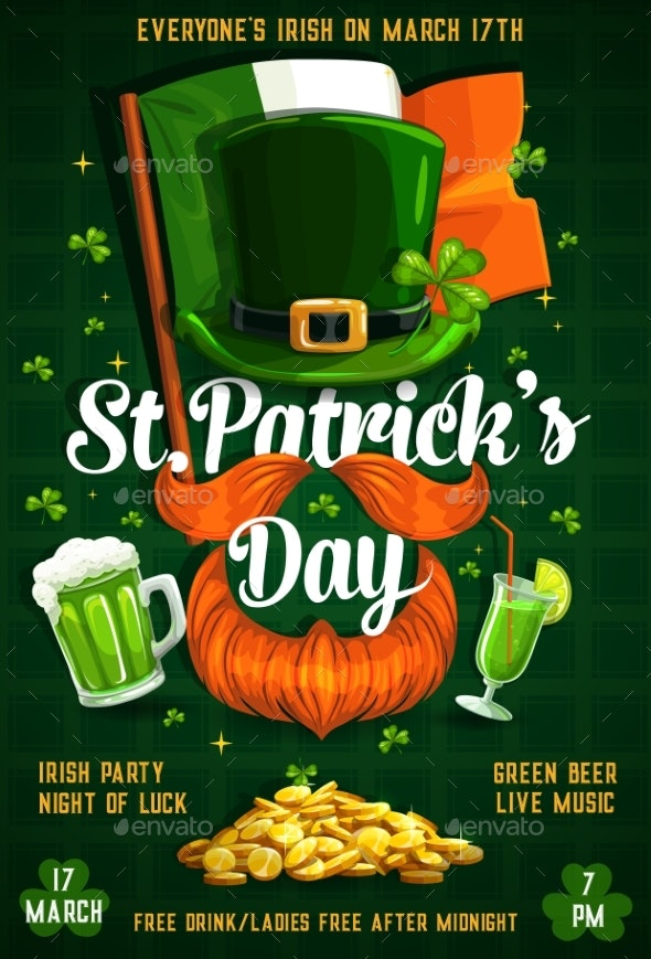 Patricks Day Irish Flag, Gold, Beer - Seasons/Holidays Conceptual