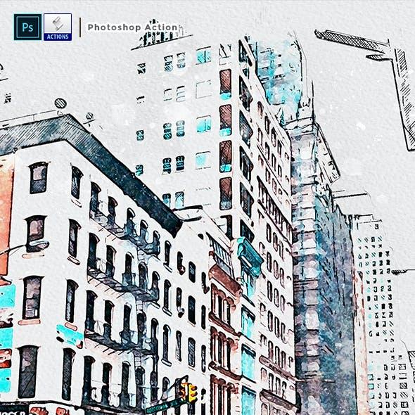 UrbaneXign - Mixed Watercolor Sketch
