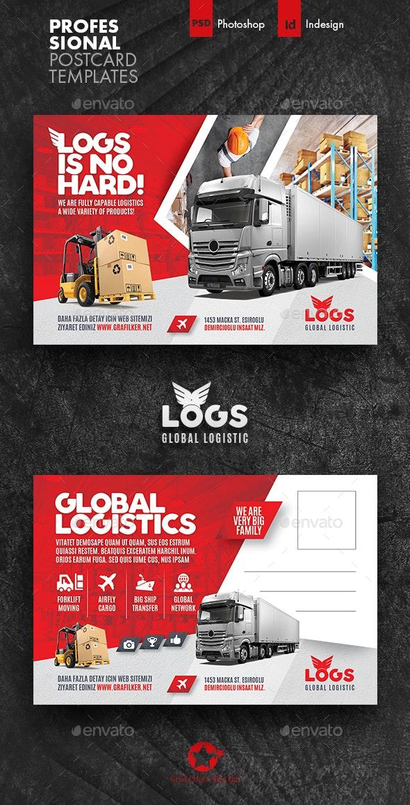 Logistics Postcard Templates - Cards & Invites Print Templates
