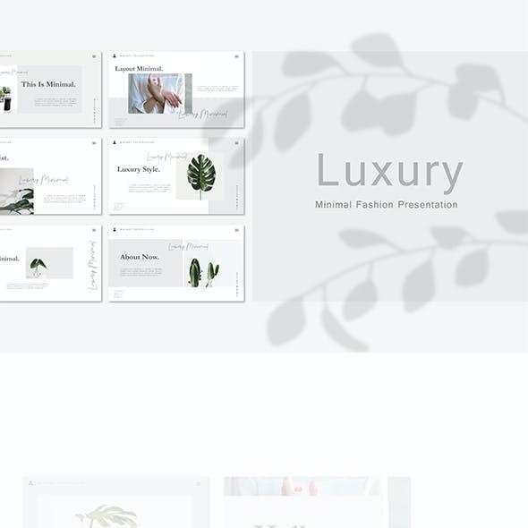Luxury - Minimal PPT & PPTX Template