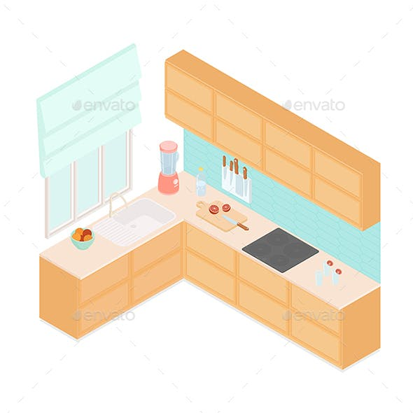 Isometric Modern Kitchen