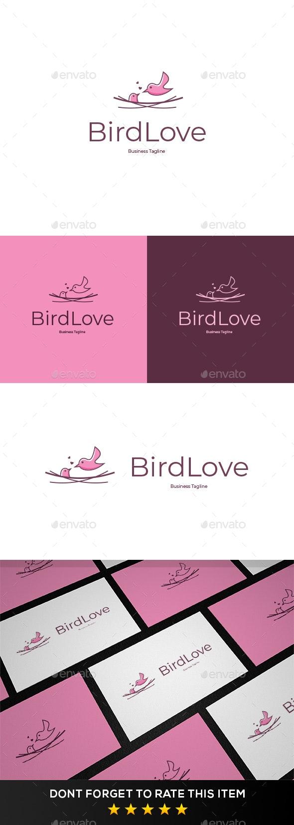 Bird Love Logo Template - Animals Logo Templates