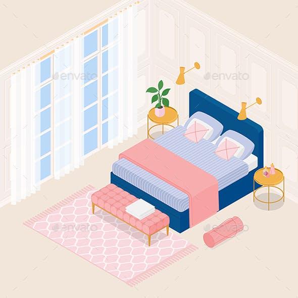 Isometric Luxurious Bedroom