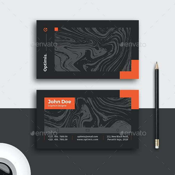 Black Pattern Business Card