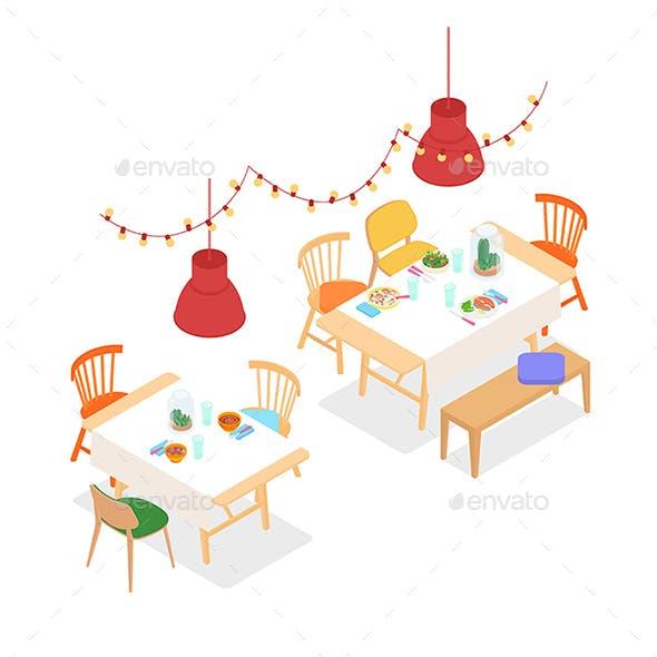 Isometric Modern Restaurant