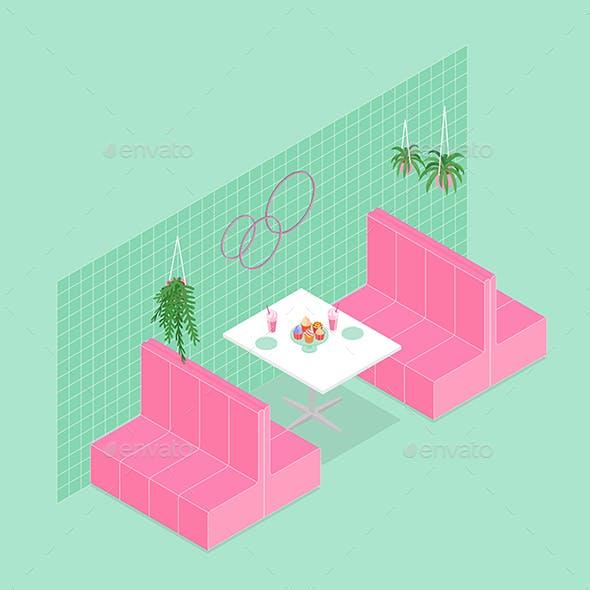 Isometric Cafe