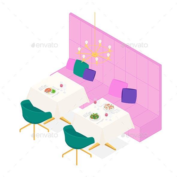 Modern Isometric Restaurant