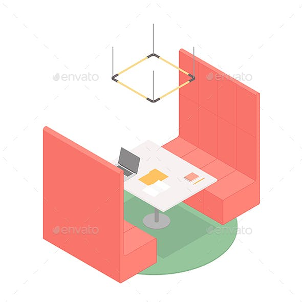 Isometric Office Booth
