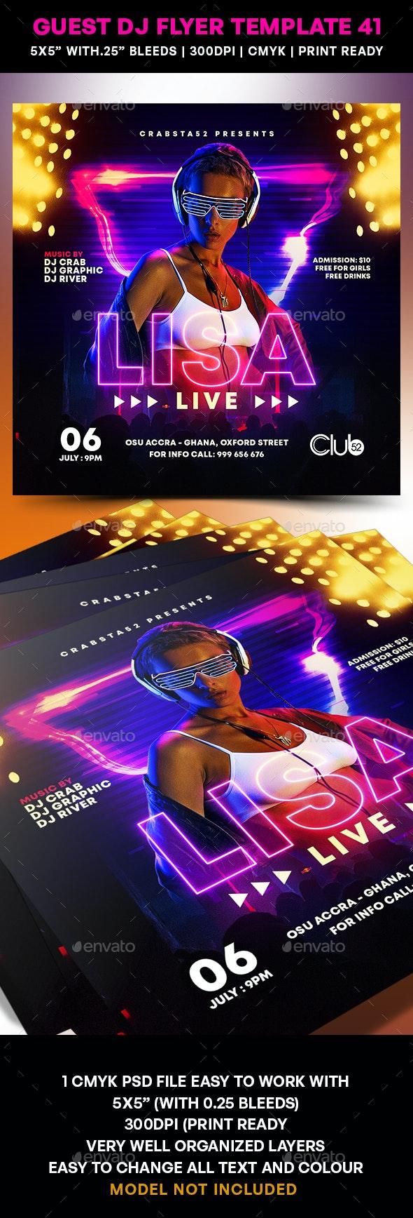 Guest DJ Flyer Template 41 - Flyers Print Templates