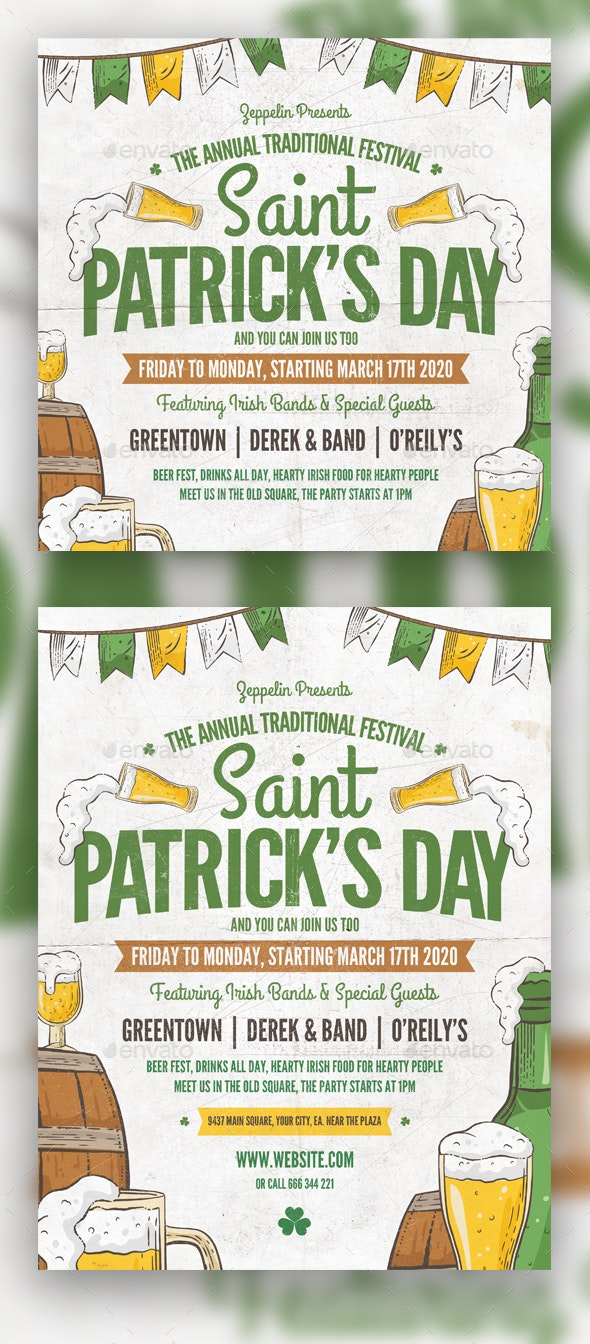Saint Patrick's Day Flyer Template Vol.2 - Holidays Events