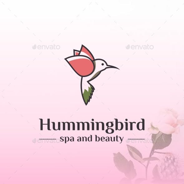 Hummingbird - SPA and Beauty Abstract Logo Template