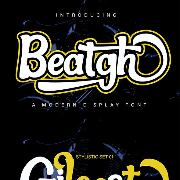 Beatgh Modern Display Font