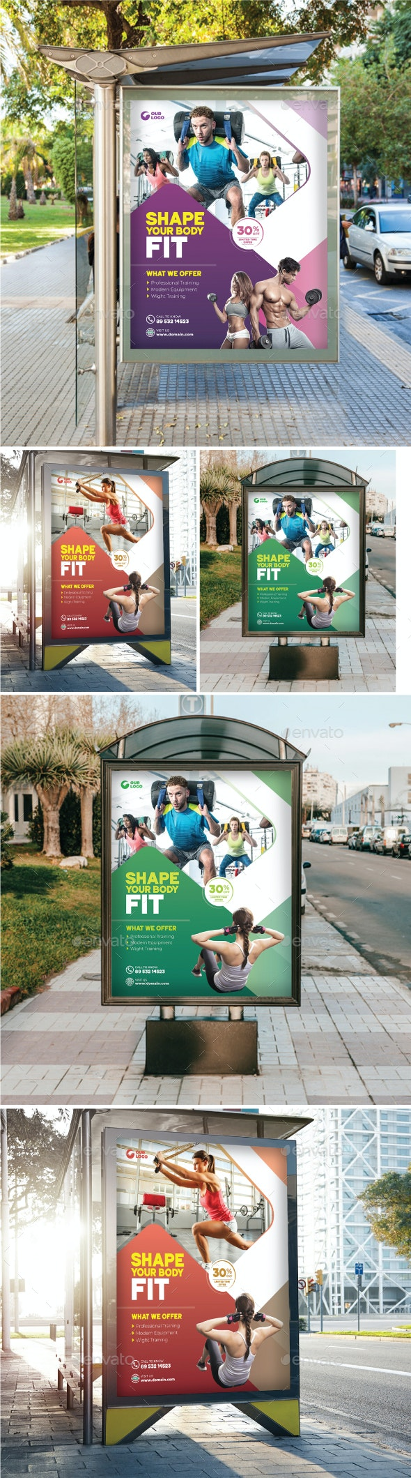 Gym Poster - Signage Print Templates