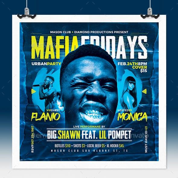 Mafia Rap Music Flyer