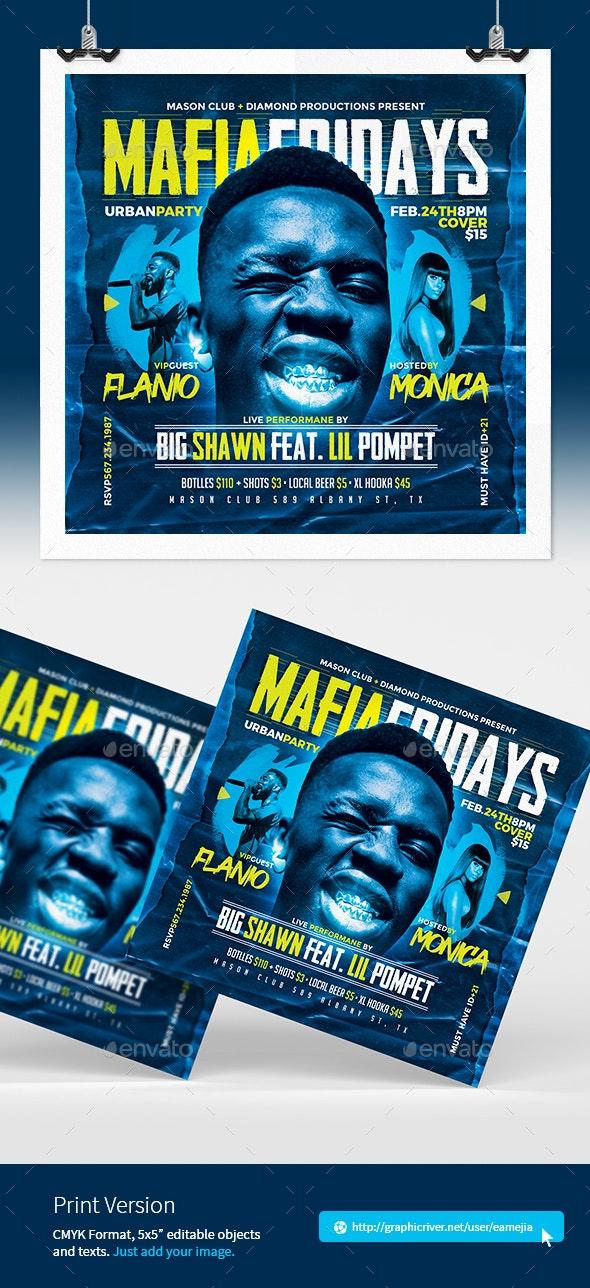 Mafia Rap Music Flyer - Clubs & Parties Events