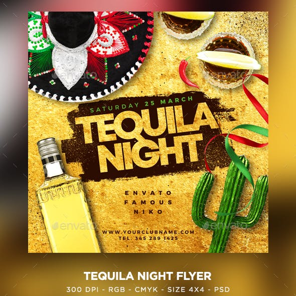 Tequila Party Flyer