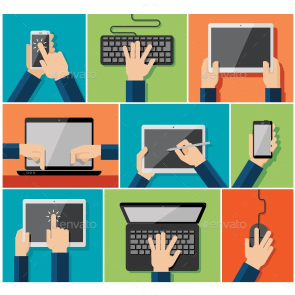 Hand Holding Computer and Communication Devices