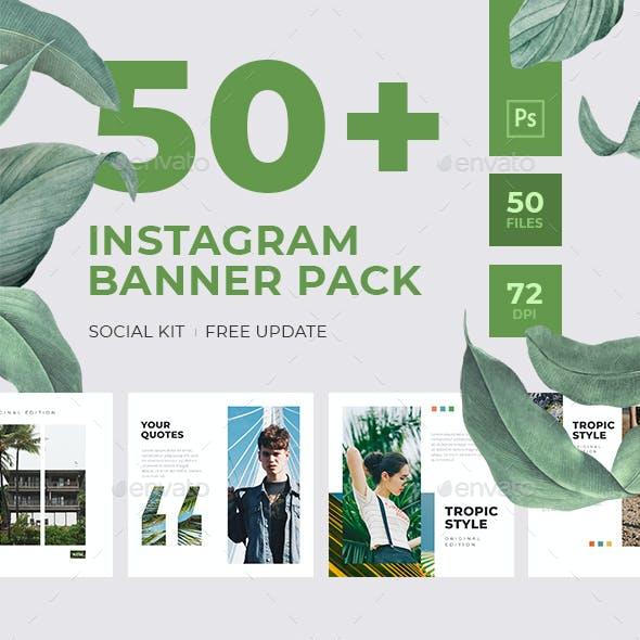 50+ Instagram Banner Pack