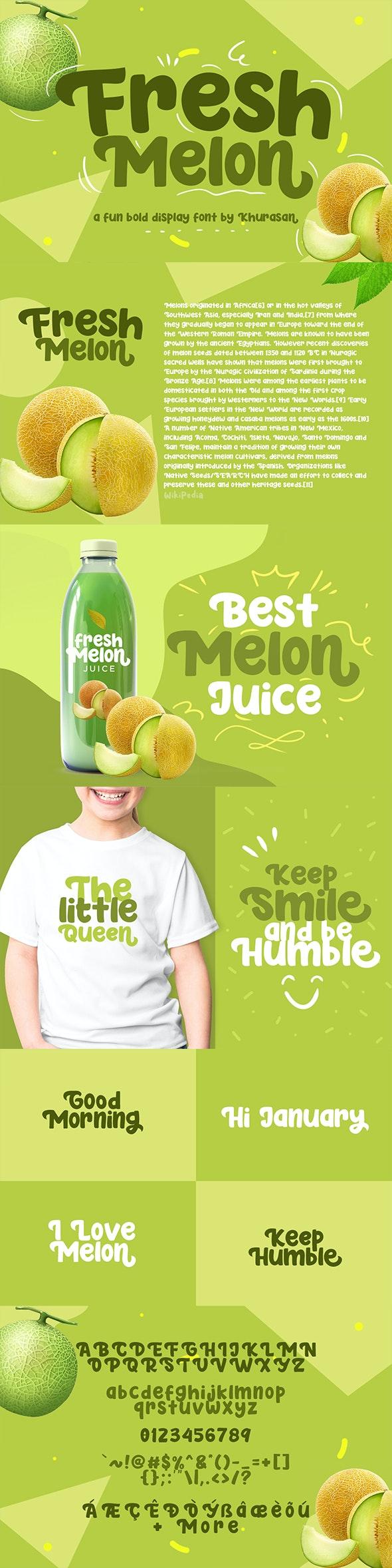 Fresh Melon - Sans-Serif Fonts