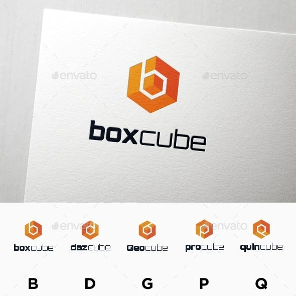 box cube and Letter B in Hexagon Form Multipurpose Logo