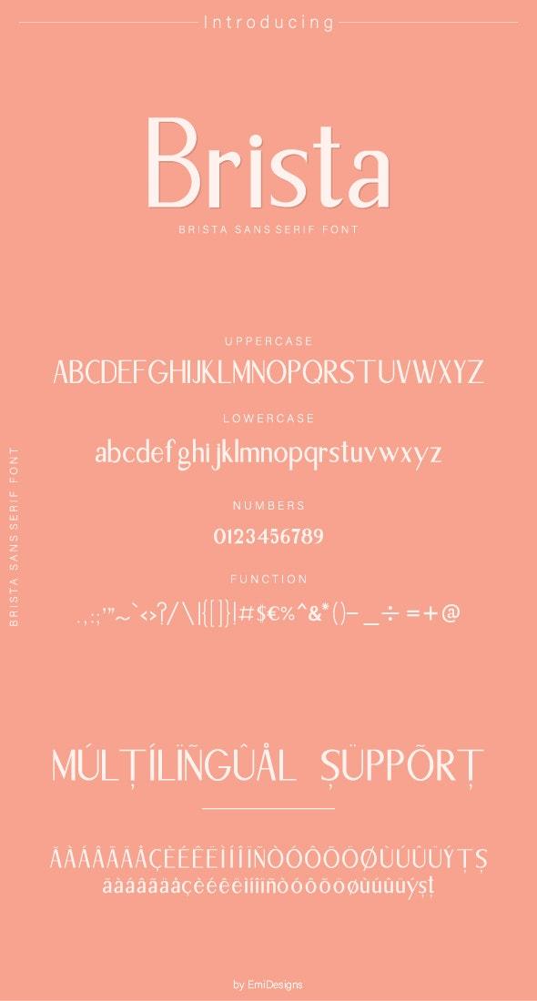Brista Sans Serif font - Sans-Serif Fonts