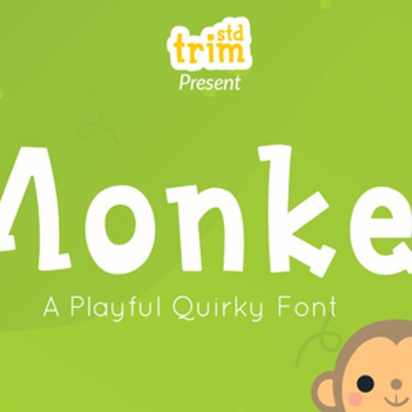 Monkey - Quirky Display Font