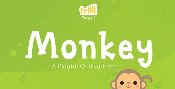 Monkey - Quirky Display Font - Comic Decorative
