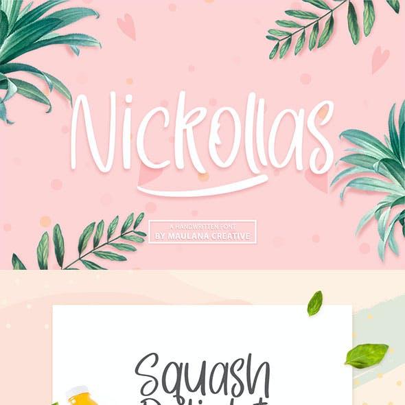 Nickollas - Handwritten Sans Serif Font