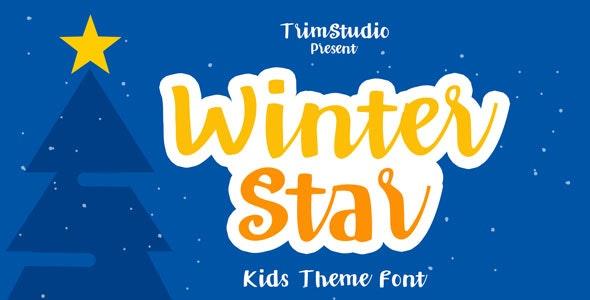Winter Star - Playful Handwritten Font - Hand-writing Script