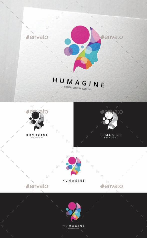 Colorful Imagination - Humans Logo Templates
