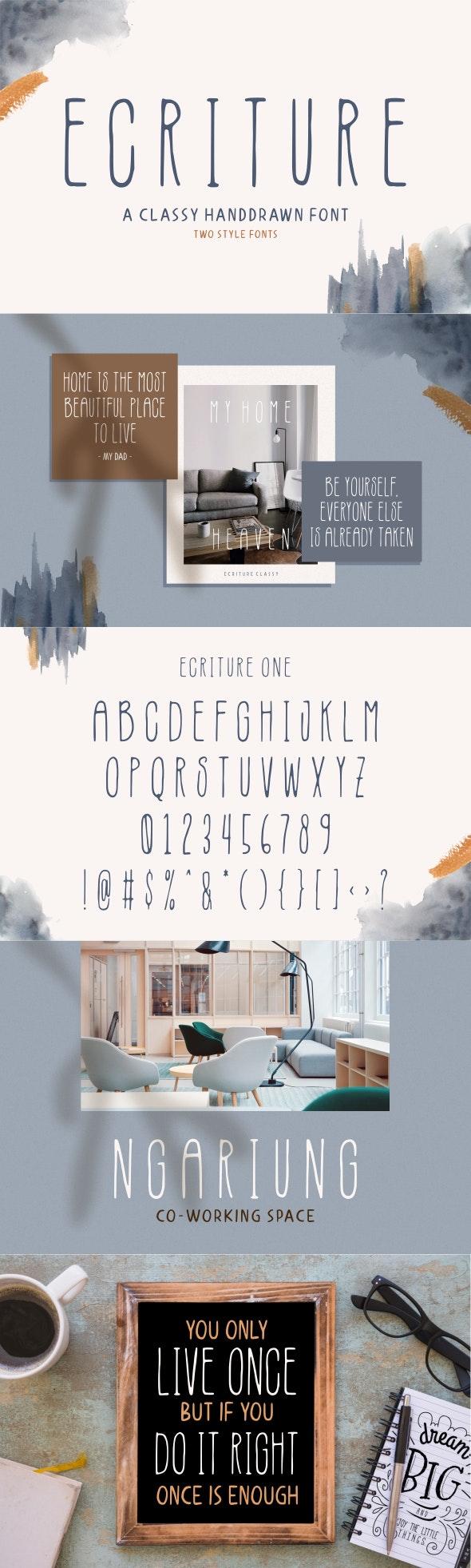 Ecriture - Handwriting Fonts