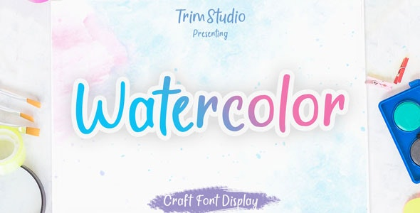 Watercolor - Quirky Handwritten Font - Holiday Decorative
