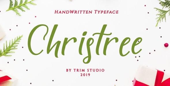Christree - Handwritten Christmas - Script Fonts