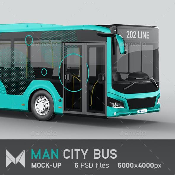 Man City Bus Mockup
