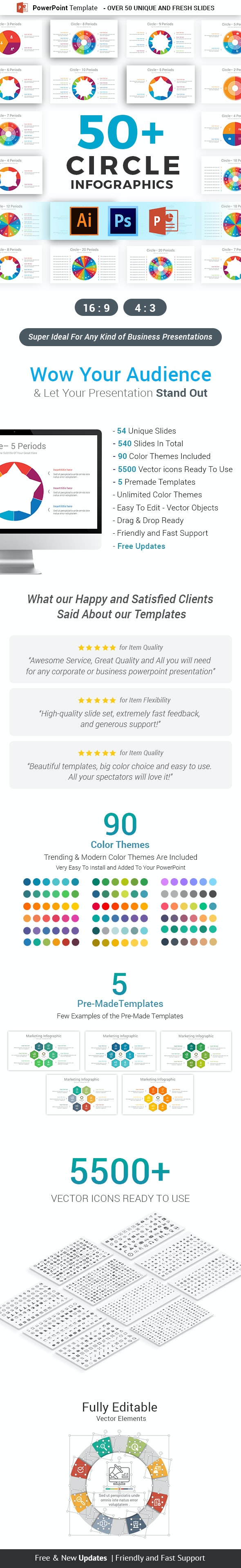 Circle Infographics PowerPoint Template Diagrams - Business PowerPoint Templates
