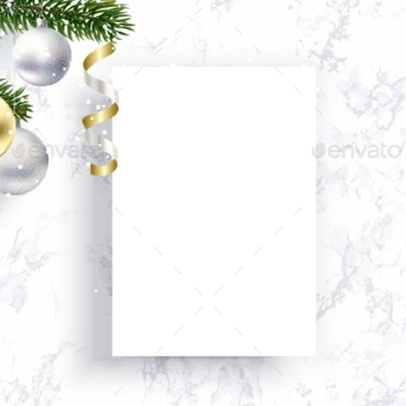 Blank Christmas Sheet of Paper for Congratulations