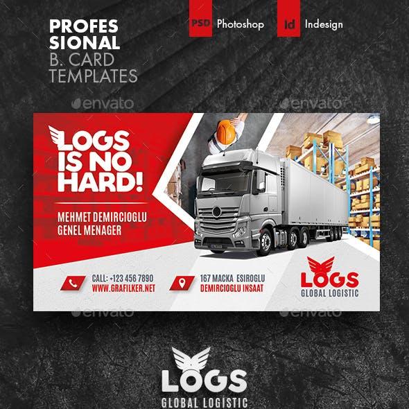 Logistics Business Card Templates
