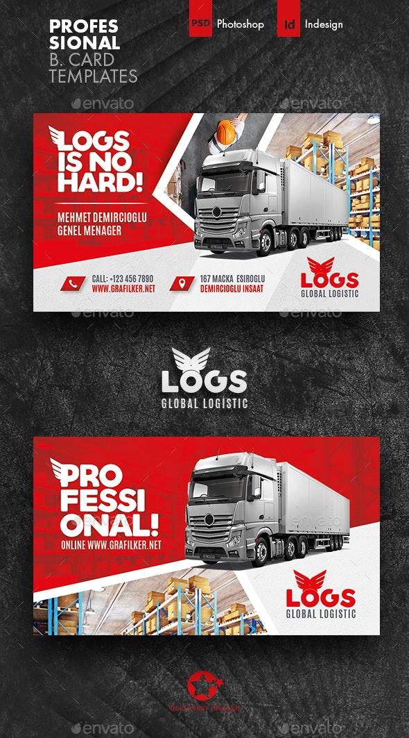 Logistics Business Card Templates - Corporate Business Cards