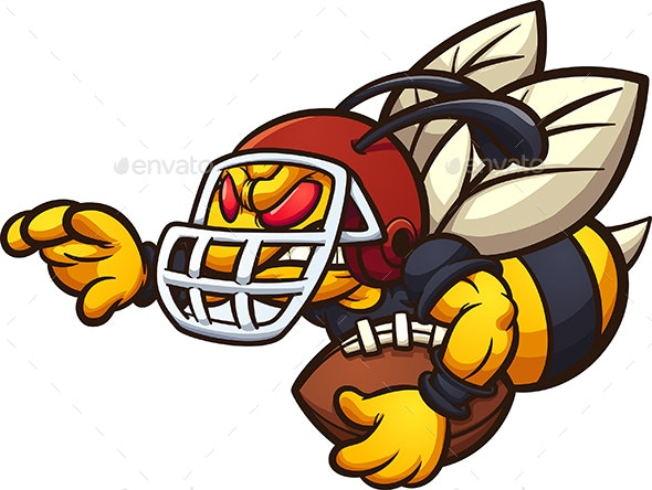 Football Hornet - Animals Characters