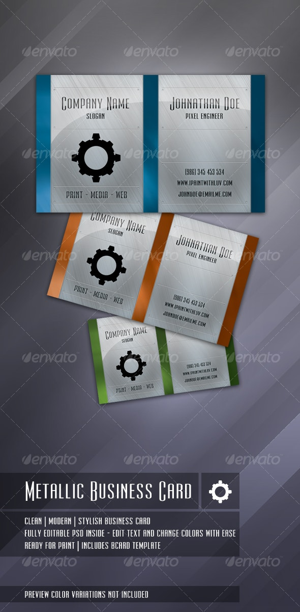 Business Gear Solid - Creative Business Cards