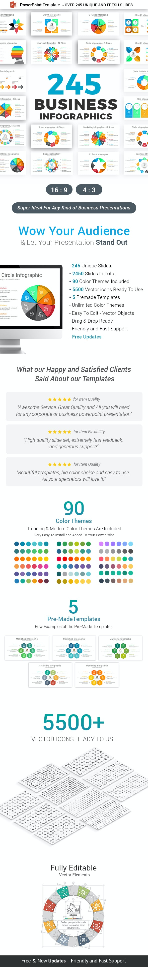 Infographics Pack PowerPoint Template V3 - Business PowerPoint Templates