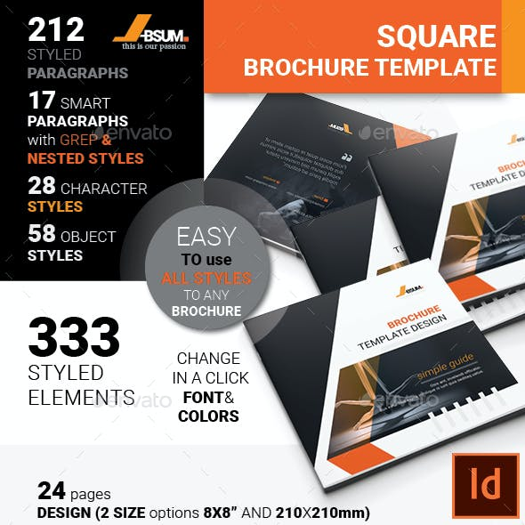 Absum Square Brochure Template Design
