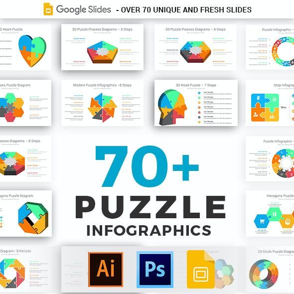 Puzzle Infographics Google Slides Template Diagrams